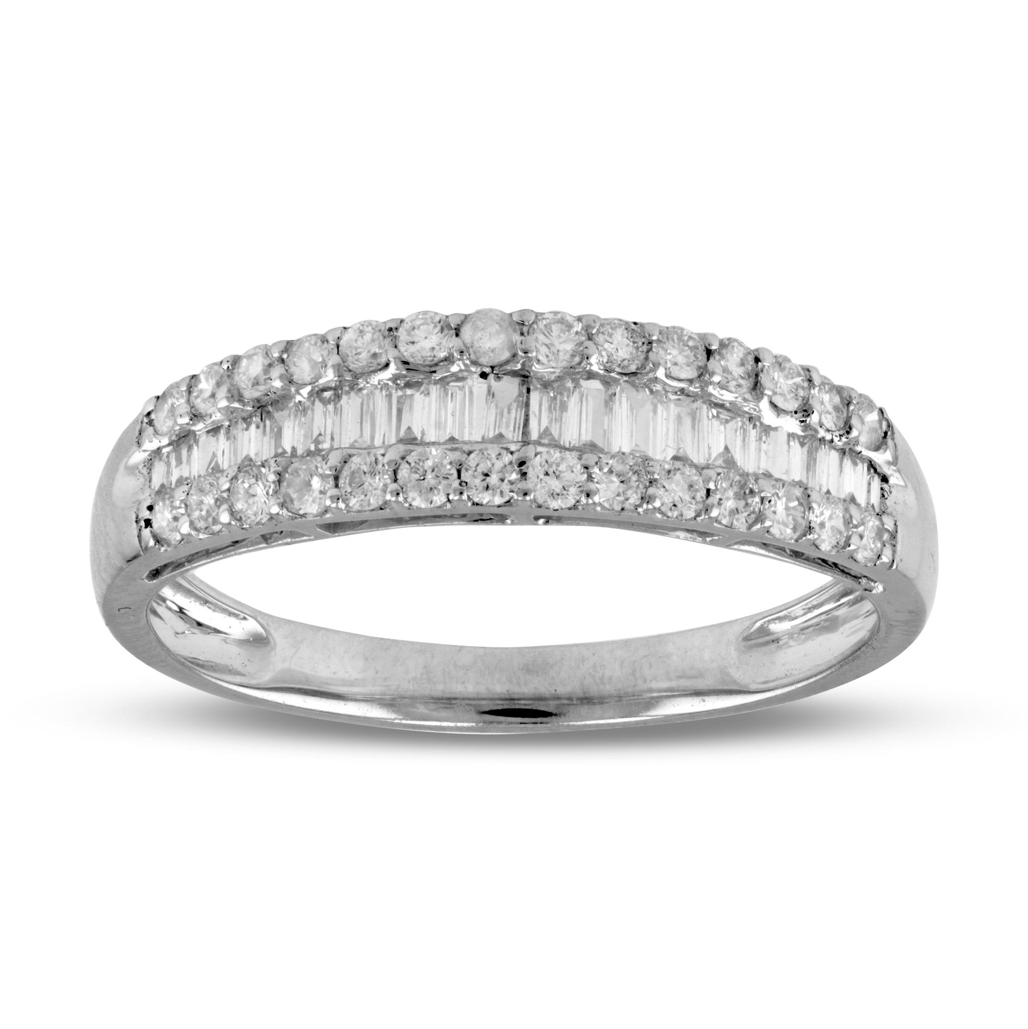 View 0.49ctw Diamond Wedding Band in 18k White Gold