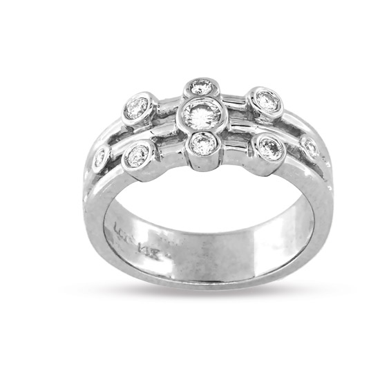 View 0.25ct tw Contemporary Right Hand Diamond Ring Set in 14k Gold