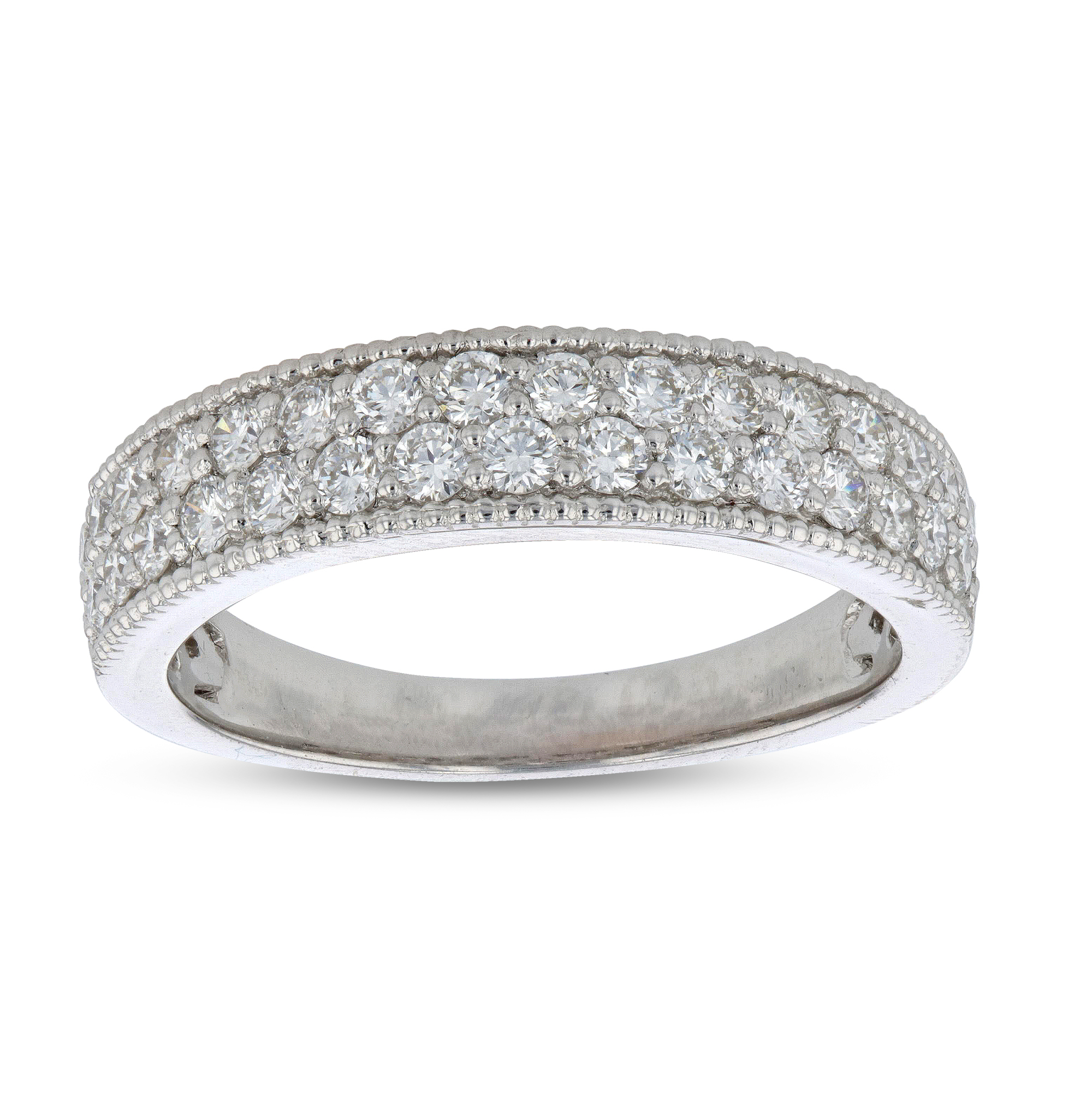 View 0.74ctw Diamond Wedding Band in 18k White Gold