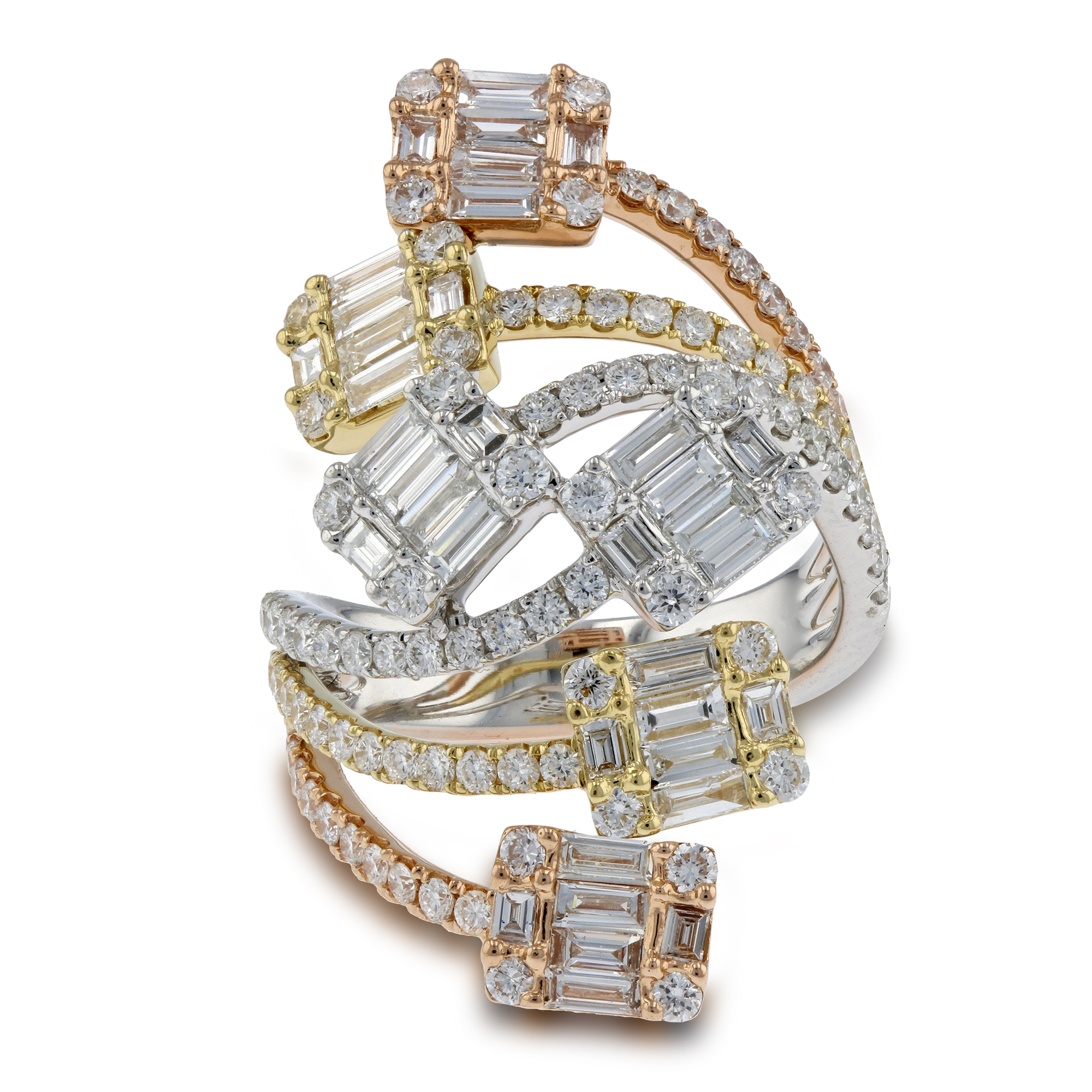 View 2.58ctw Diamond Fashiom Ring in 18k Gold