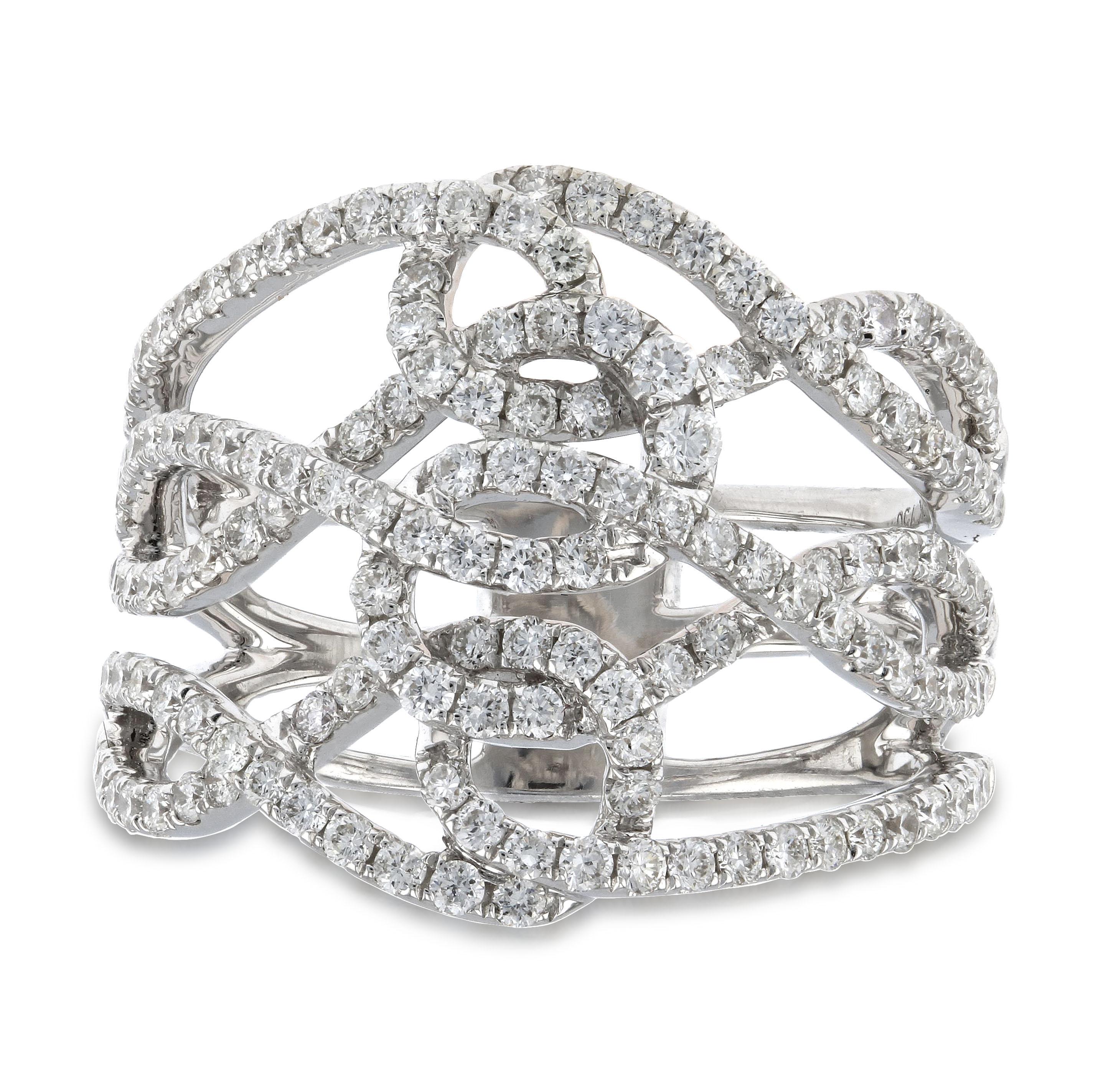 View 1.13ctw Diamond Fashion Ring in 18k White Gold