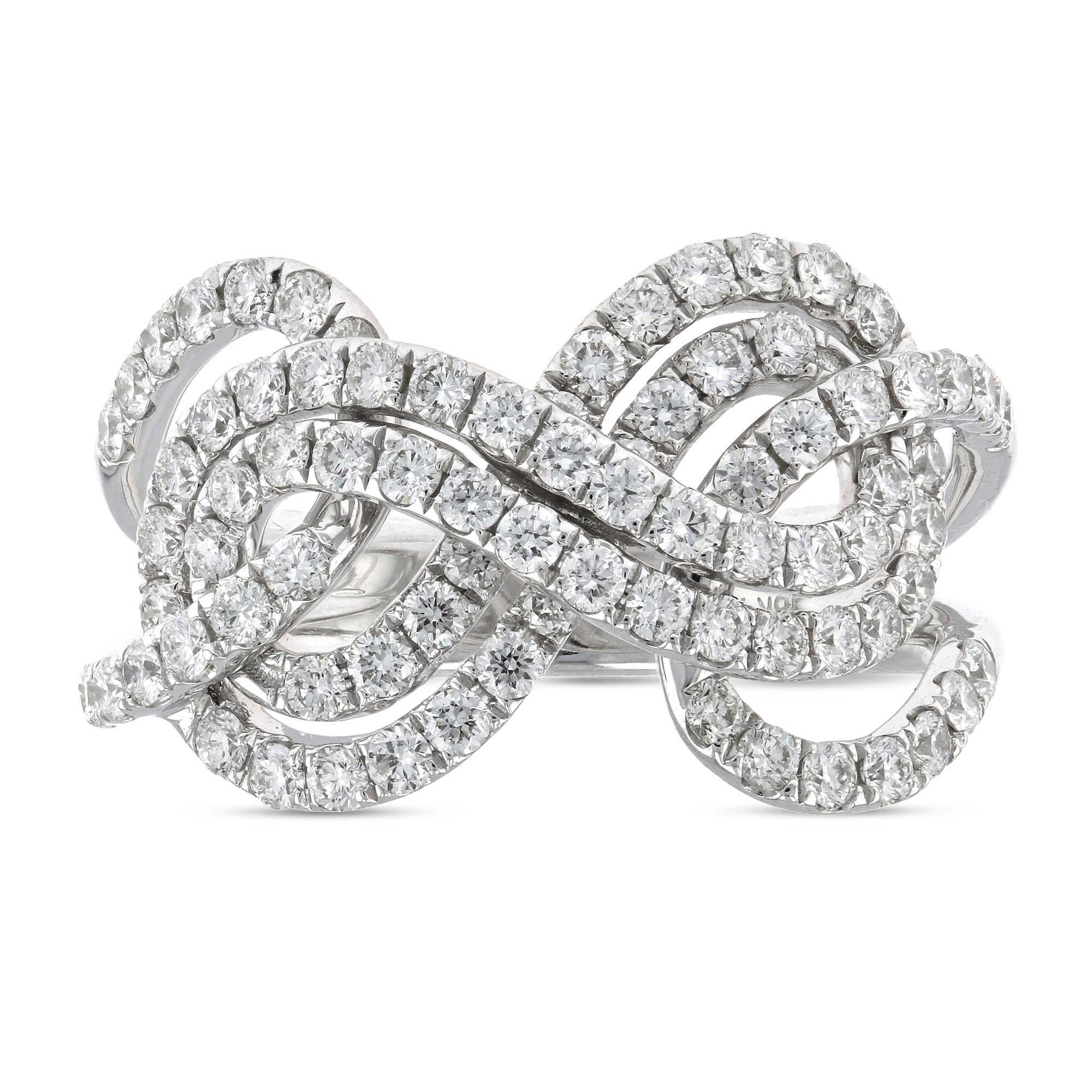 View 1.20ctw Diamond Fashion ring in 18k White Gold