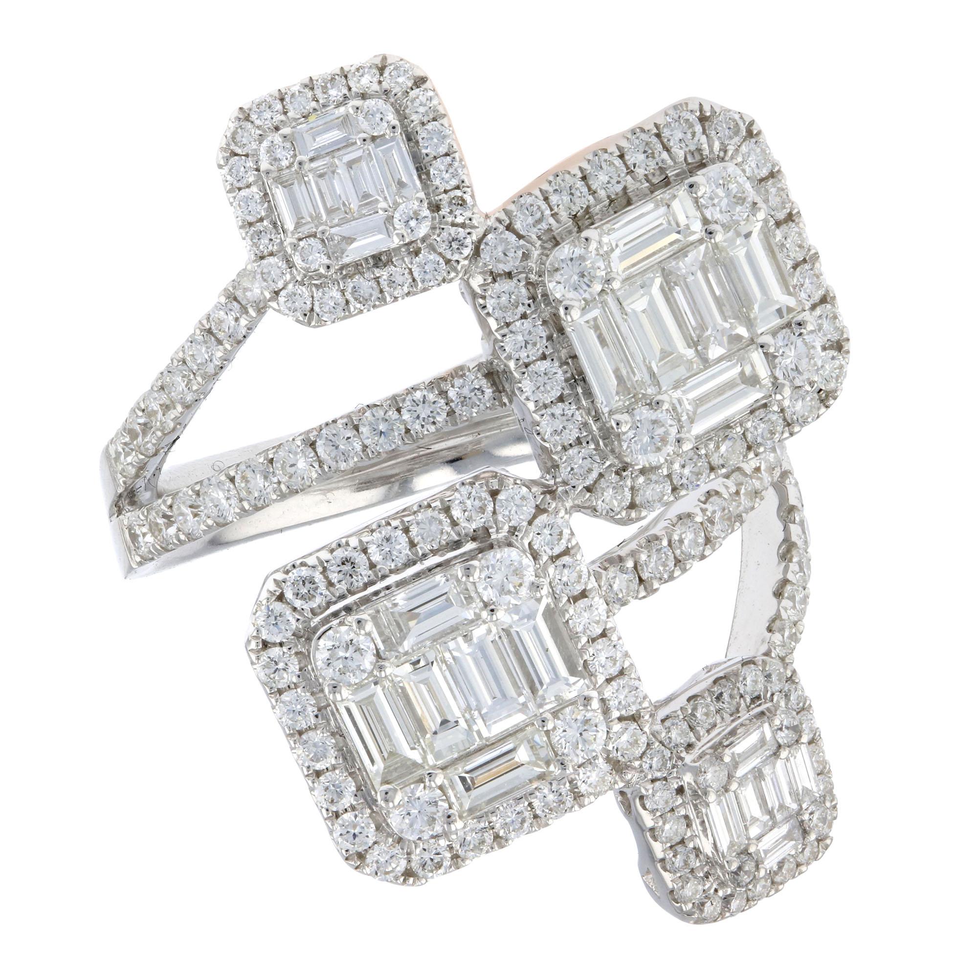 View 2.23ctw Diamond Wedding Band in 18k White Gold