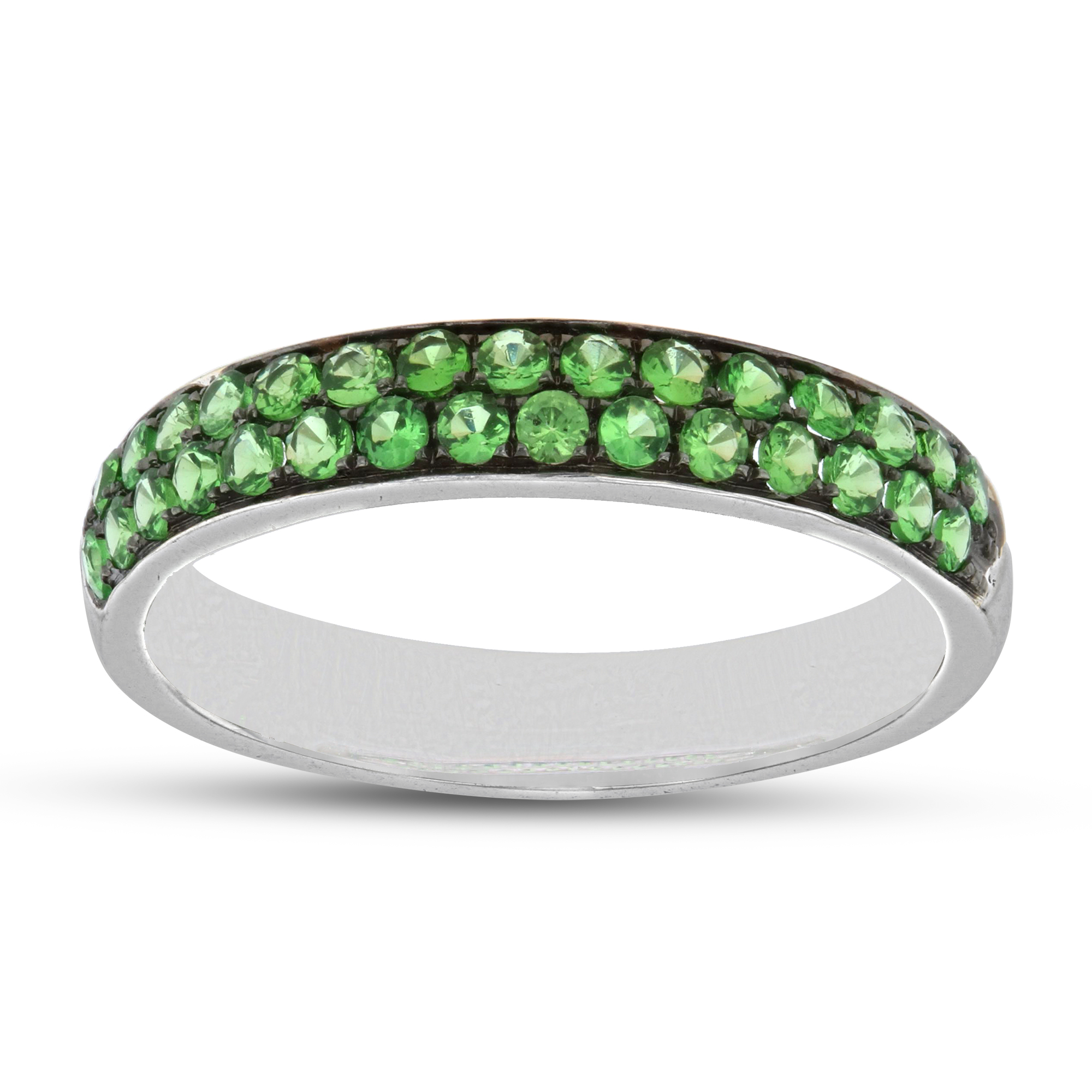 View 0.53ctw Tsavorite Band in 18k Gold