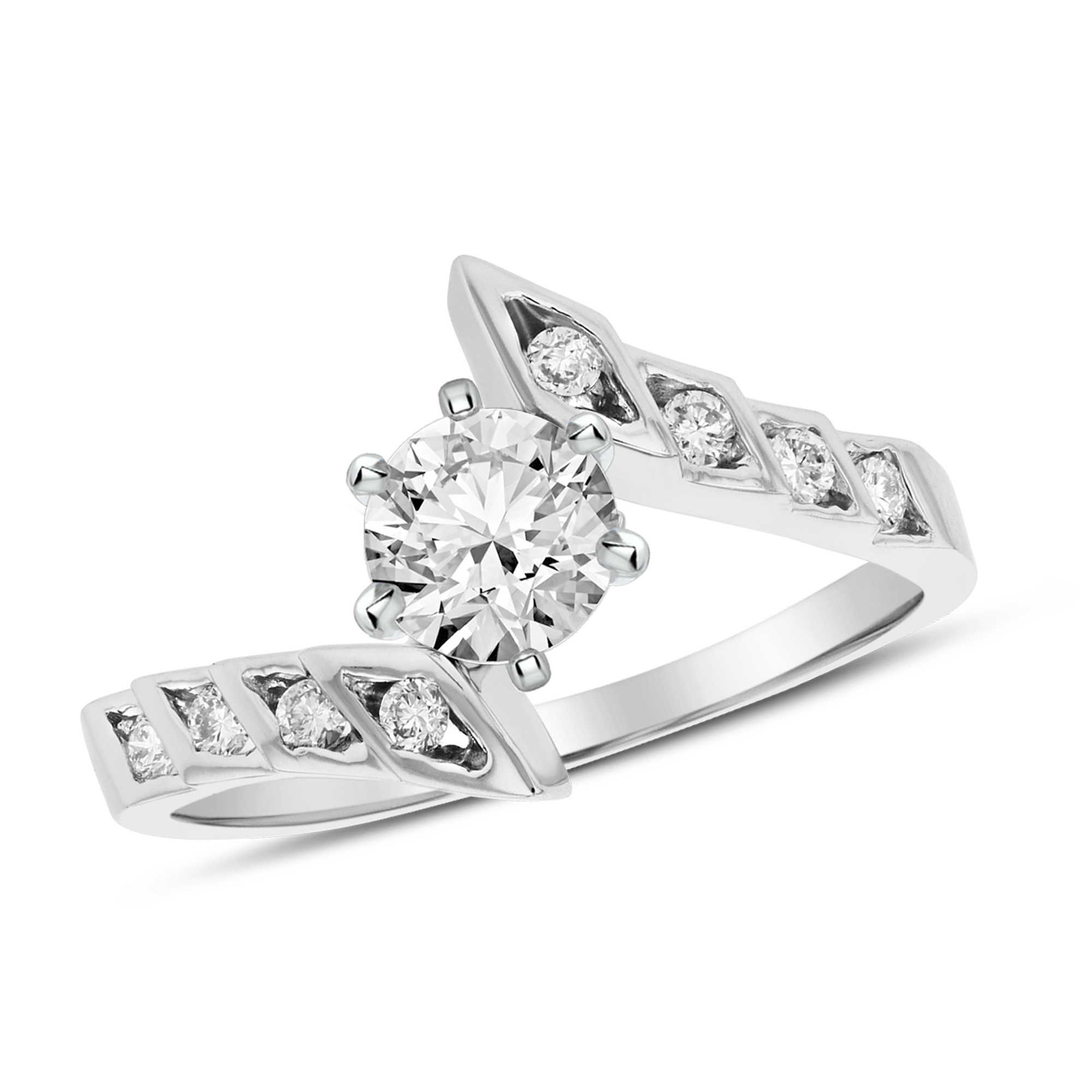 View 0.55ctw Diamond Engagement Ring in 14k Gold