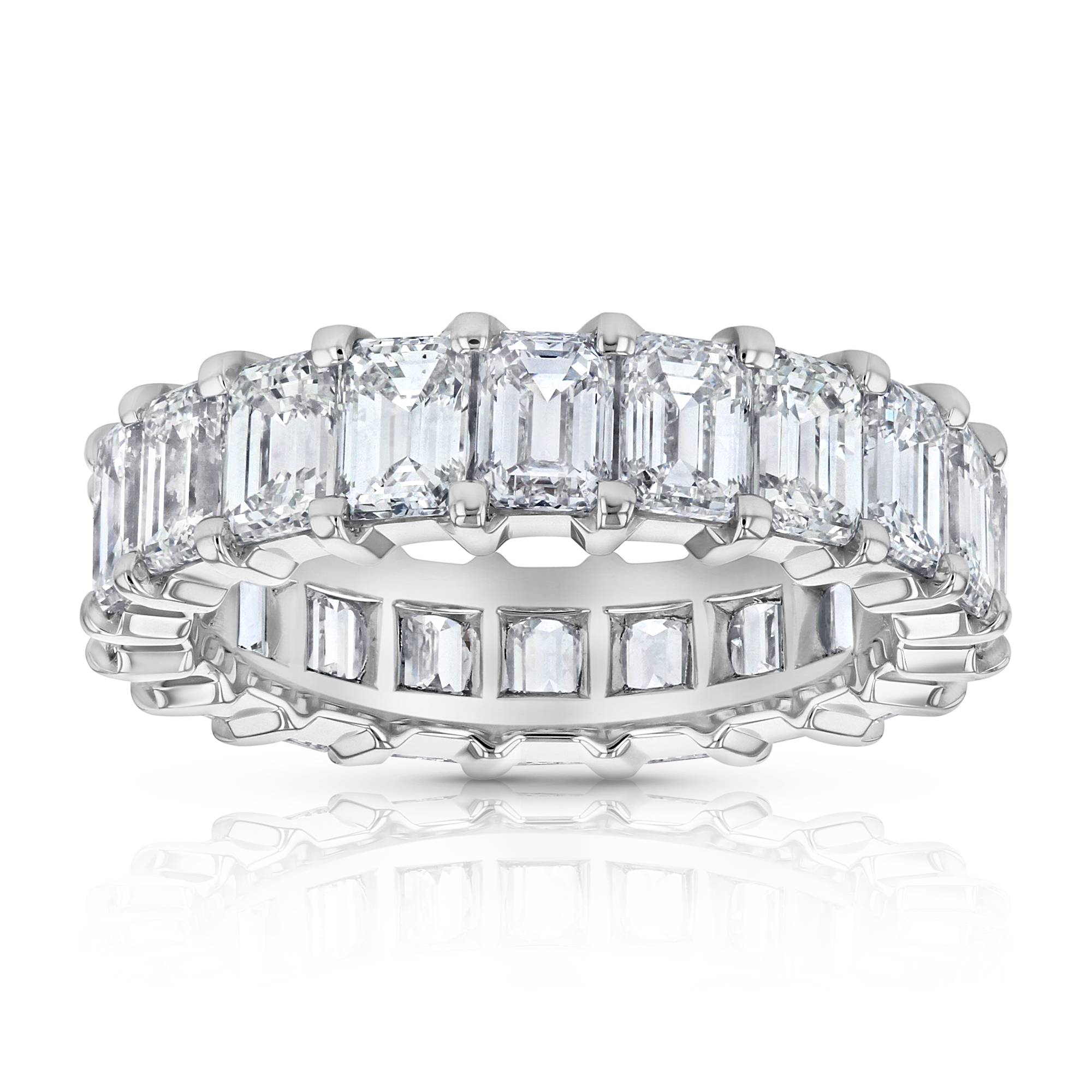 View 6.13ctw Emerald Cut Eternity Band in 18k White Gold