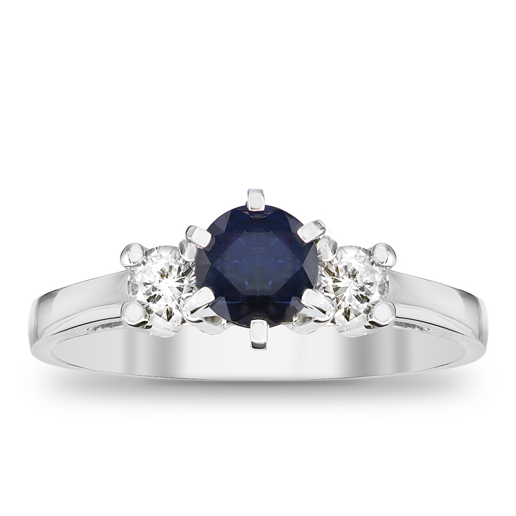 View 0.83cttw Sapphire and Diamond Engagement Ring in 14k gold