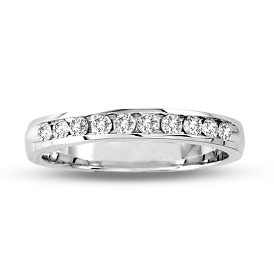 ed7f115fa30 View 14k Gold Channel Set Wedding Ring or Anniversary Band with 0.25ct tw  10 Stone