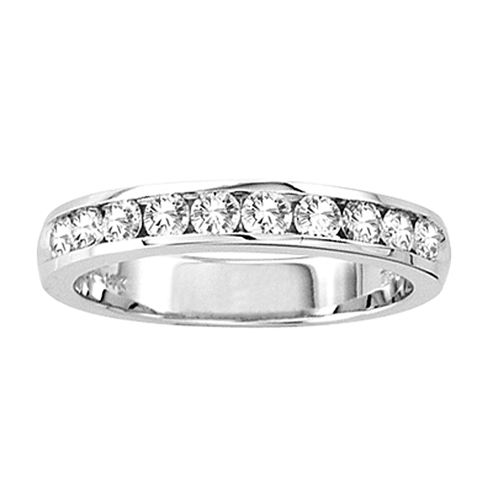 c911afcdb75 View 14k Gold Channel Set Wedding Ring or Anniversary Band with 0.50ct tw  10 Stone