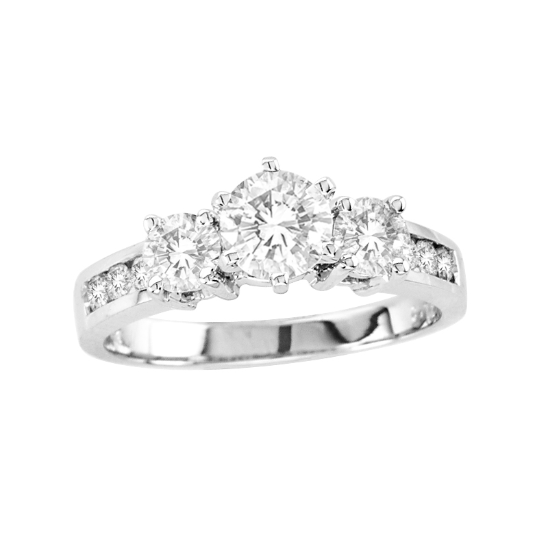 View 1.50cttw Diamond Engagement Ring in 14k Gold