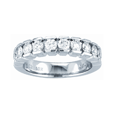 b1f883e1bb4 View 14k Gold Channel Set Wedding or Anniversary Band with 0.50ct tw 10  Stone Round