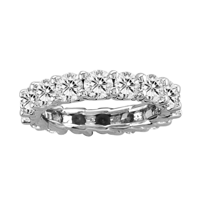 View 2.00ct tw All Around Eternity Half Lucida Design Diamond Band 14k Gold Bridal Ring HI-SI (R)