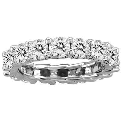 View 6.00ct tw All Around Diamond Eternity Half Lucida Design Band 14k Gold Bridal Ring G-H SI Quality (W5)