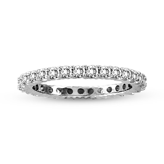 View 1.00cttw Shared Prong All Around Diamond Eternity Band 14k Gold Ring H-I SI (R)