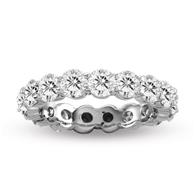 View 2.00 cttw Shared Prong All Around Diamond Eternity Ring 14k in Gold HI-SI (R)