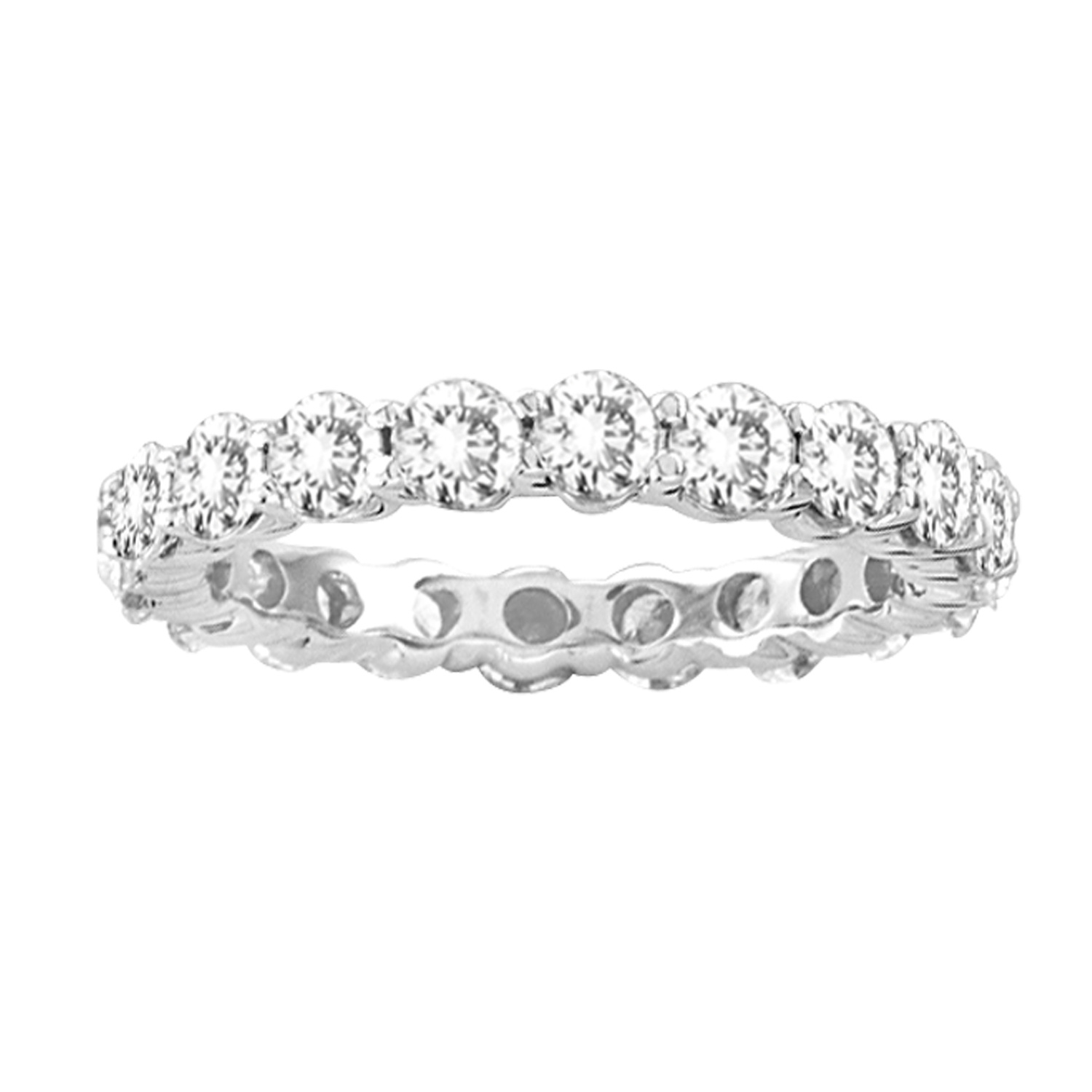 ... Prong All Around Diamond Eternity Band 14k Gold Bridal Ring HI-SI (R