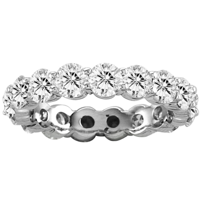 View 5.00 cttw Shared Prong All Around Diamond Eternity Band 14k Gold Bridal Ring G-H SI Quality(W5)