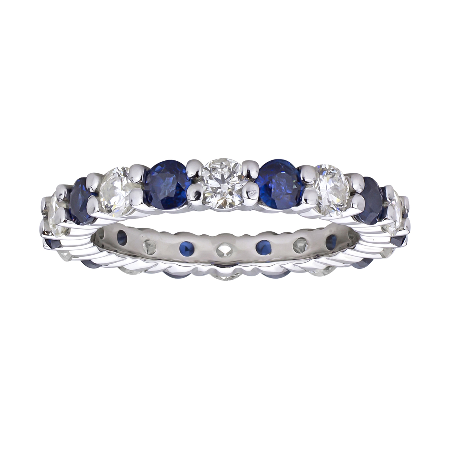 band eternity sapphire sparkle bands vintage dd yaf mini
