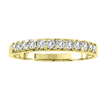 View 14k Gold Wedding Band with 0.30ct of Diamonds