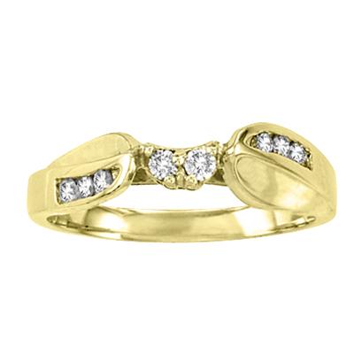View 14k Gold Wedding Band with 0.20 ct tw Round Diamonds
