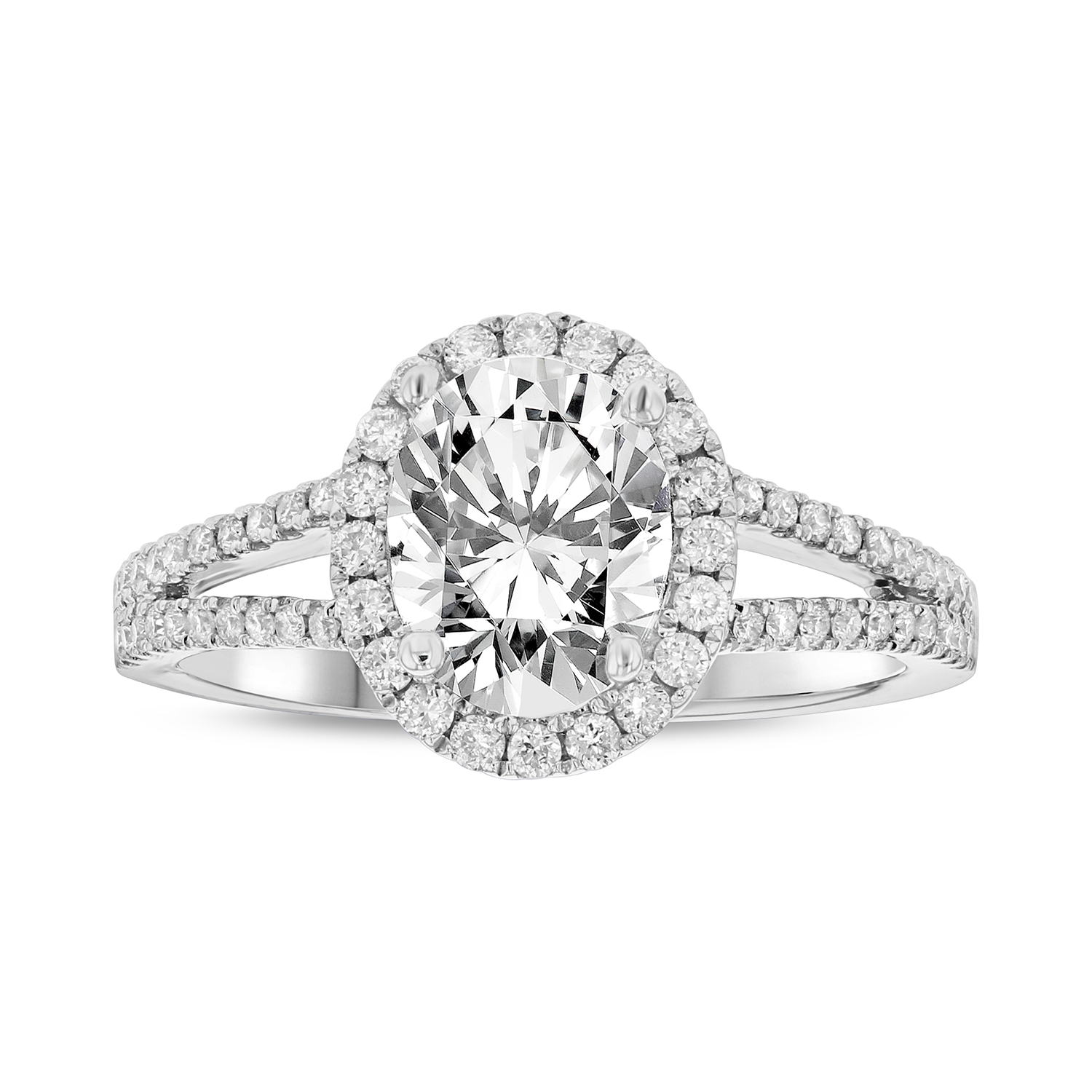 View 1.27ctw Diamond Engagement Ring in 18k White Gold